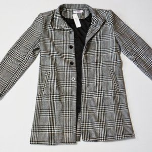 NWT Order Plus Houndstooth trench peacoat